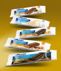 El packaging de las barritas biMamán deja clara su diversidad de sabores
